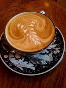 The latte at La Colombe Torrefaction
