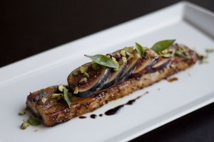 Pork belly with figs at A Voce