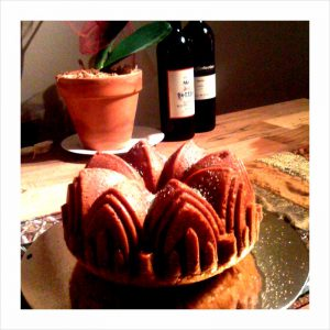 Bundt cake before icing