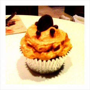 Mocha maldon salt caramel cupcake. My toddler approved. The vanilla caramel Vietnamese coffee cupcake (which I took home) was also wonderful.