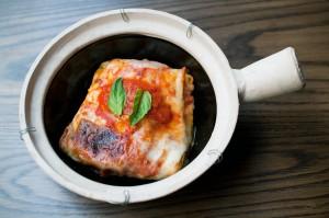 The lasagne at Mia Dona