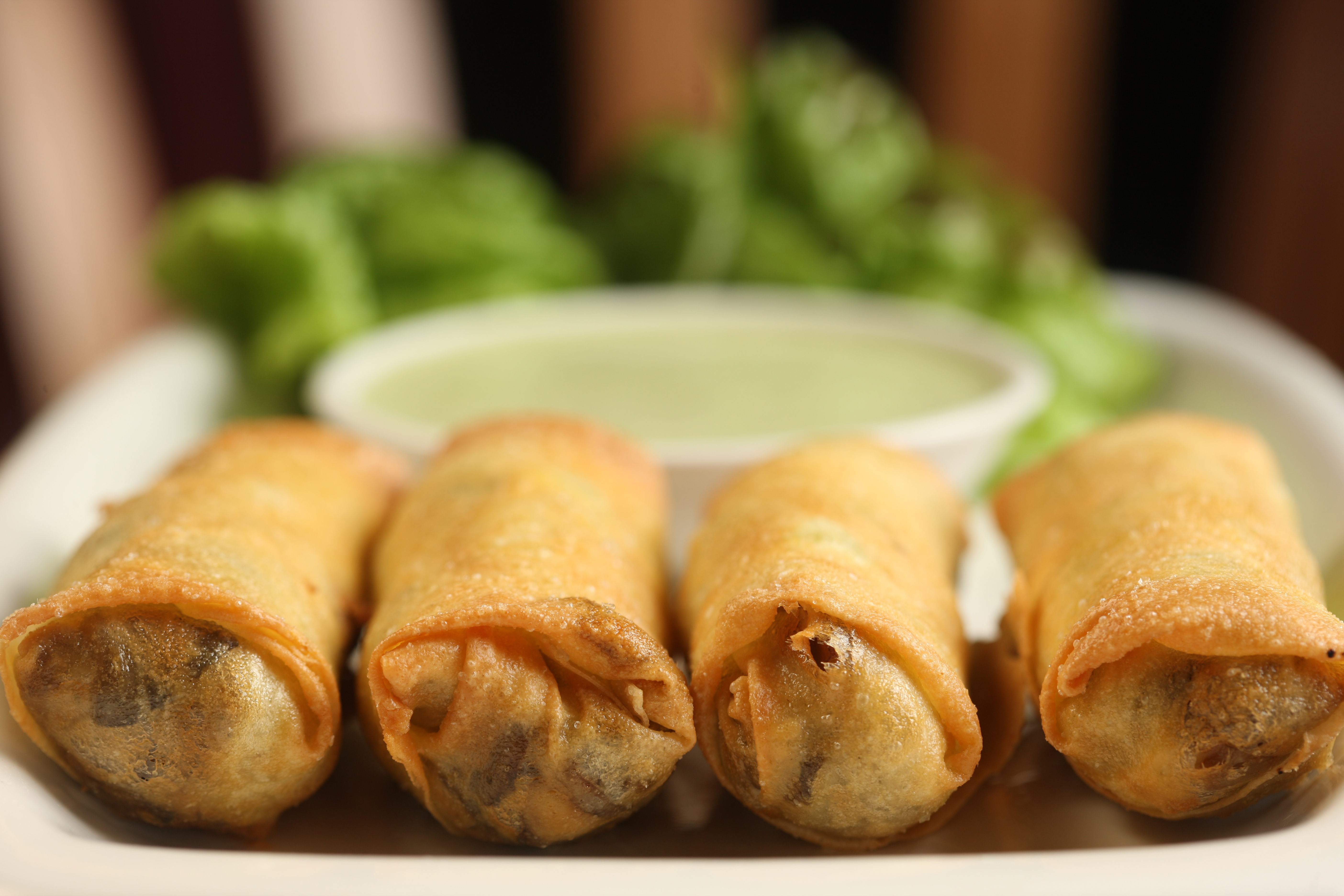 Fragrant mushroom egg rolls from Spice Market - The NYC ...
