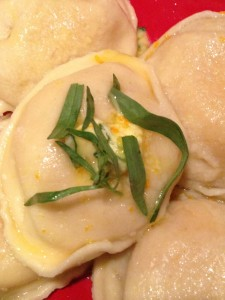 Lobster Ravioli with Orange-Tarragon Butter