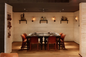 Reserve the private dining room for a night out with friends.