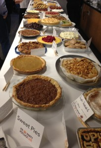 An entire table of sweet pies. Oh my!