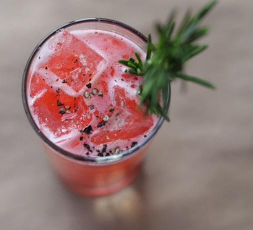Raspberry Black Pepper Ginger Margarita