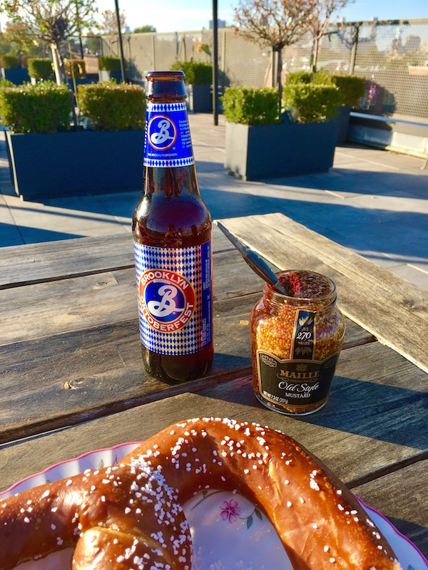 Beer & Pretzels (with mustard) for Oktoberfest—The NYC Kitchen